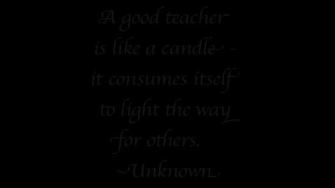 Thumbnail for entry Teacher Tribute