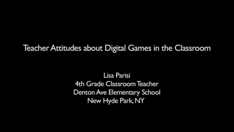 Thumbnail for entry Teaching with Games: GLPC Case Study: Lisa