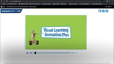 Thumbnail for entry Pearson Subtracting Fractions