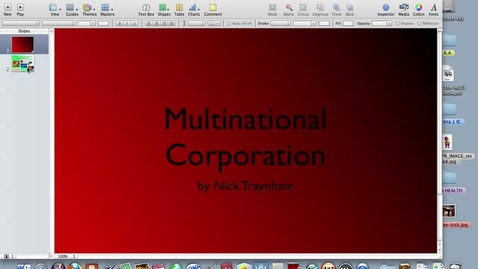 Thumbnail for entry nick's multinational corporation