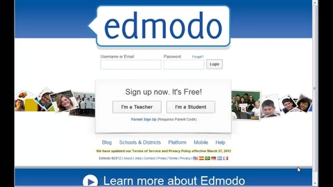Thumbnail for entry Edmodo Step 1 - Sign up