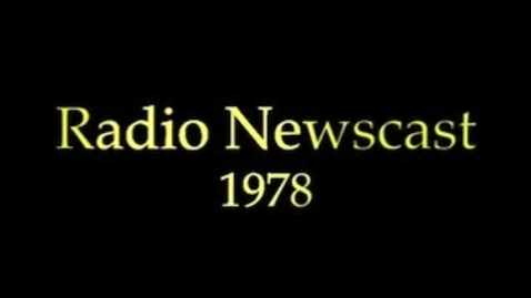 Thumbnail for entry Radio Newscast Sample With Actuality