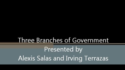 Thumbnail for entry Three Branches of Government