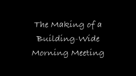 Thumbnail for entry Palmyra-Macedon Primary School January 2014 Building-Wide Morning Meeting