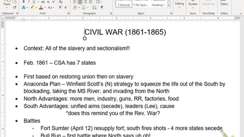 Thumbnail for entry APUSH Review 9: Civil War and Reconstruction