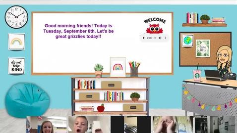Thumbnail for entry Morning Meeting - Sept 8