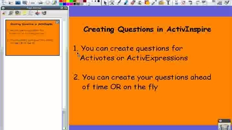 Thumbnail for entry Adding ActivVote and ActivInspire Questions to an ActivInspire Flipchart