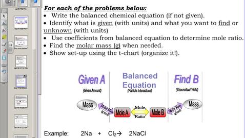 Thumbnail for entry Video 4:  Gram to Gram Problems