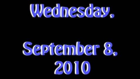 Thumbnail for entry Wednesday, September 8, 2010