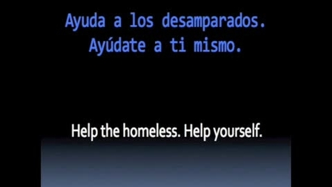 Thumbnail for entry Help the Homeless