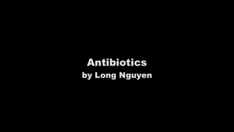 Thumbnail for entry Antibiotics