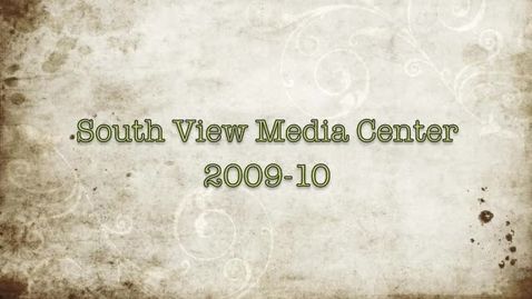 Thumbnail for entry South View Middle School Media Center Orientation