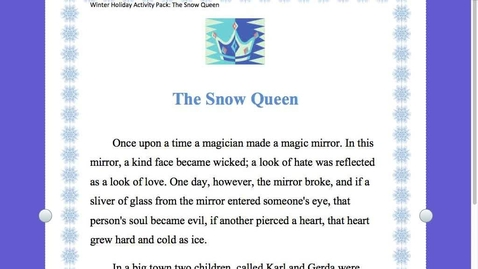 Thumbnail for entry THE SNOW QUEEN read aloud