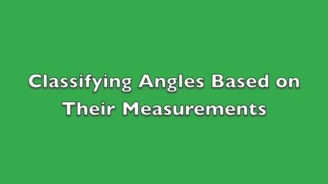 Thumbnail for entry 6 On-Level Classifying Angles