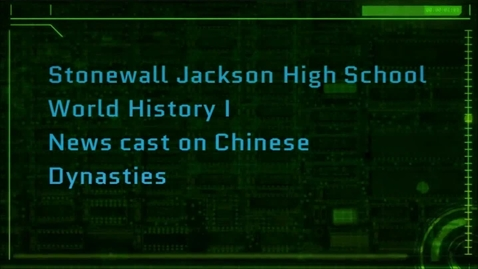 Thumbnail for entry SJHS Newcast on Chinese Dynasties