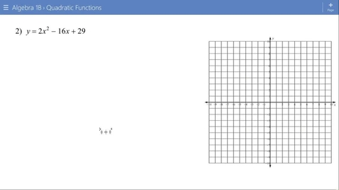 Thumbnail for entry Algebra 1B Lesson 15 #2