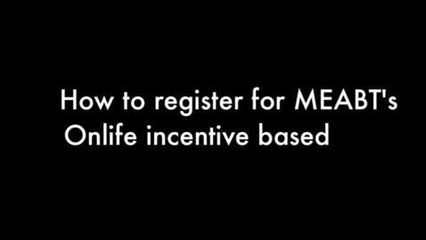 Thumbnail for entry Onlife registration
