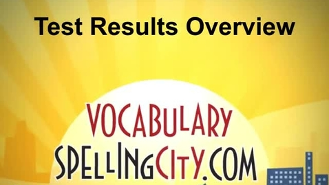 Thumbnail for entry Test Results Overview