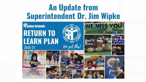 Thumbnail for entry Return to Learn Plan UPDATE Dr. Wipke and Dr. Zielinski Ladue Schools