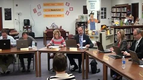 Thumbnail for entry 10/13/11 Warren County School Board Meeting