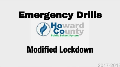 Thumbnail for entry HCPSS-Emergency Procedure-Modified-Lockdown