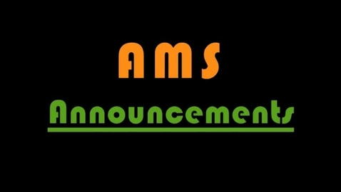 Thumbnail for entry AMS Morning News for October 23, 2013