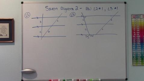 Thumbnail for entry Saxon Algebra 2 - Proportional Segments in Transversals - Homework Lesson 2 #1 & Lesson 3 #1