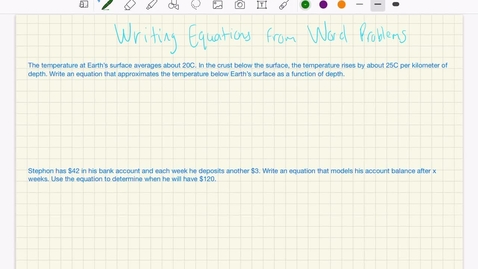 Thumbnail for entry Writing Equations from Word Problems 2.0
