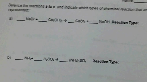 Thumbnail for entry Types of Chemical rxn WS