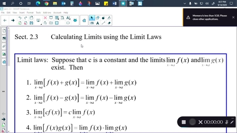 Thumbnail for entry Calc Sect. 2.3