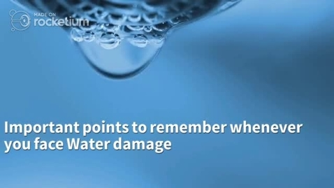 Thumbnail for entry Important points to remember whenever you face Water damage