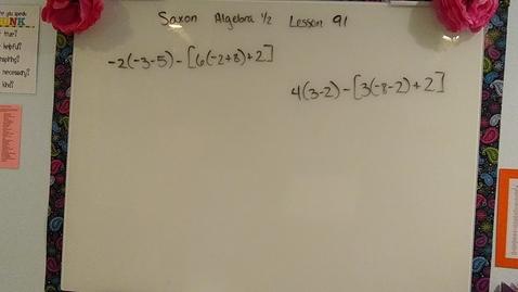 Thumbnail for entry Saxon Algebra 1/2 Lesson 91