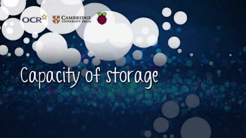 Thumbnail for entry Capacity of storage