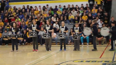 Thumbnail for entry Cosgrove Middle School drumline