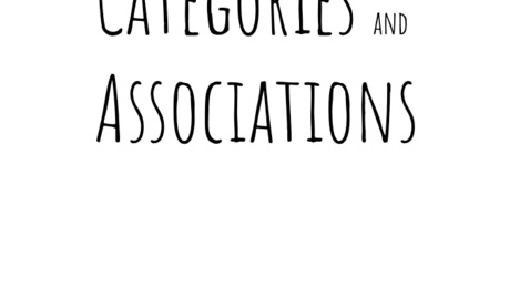 Thumbnail for entry Categories and Associations