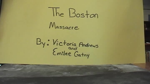 Thumbnail for entry The Boston Massacre