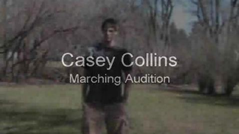 Thumbnail for entry Casey Collins Marching