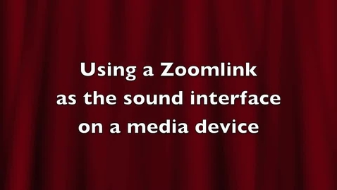 Thumbnail for entry Using a Zoomlink as the audio interface for media (computer)