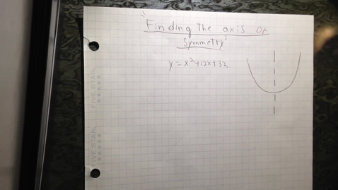 Thumbnail for entry identifying the axis of symmetry algebraically, and determining even and odd functions
