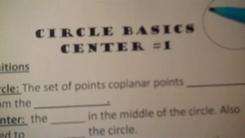 Thumbnail for entry Center 1: Circle Basics
