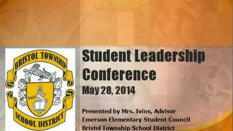 Thumbnail for entry Student Leadership Conference at Emerson 2014