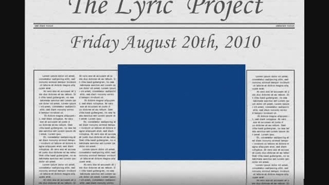 Thumbnail for entry The Lyric Project