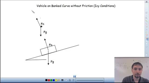 Thumbnail for entry Vehicle on A Banked Icy Curve