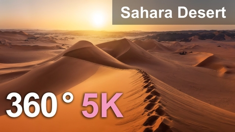 Thumbnail for entry Sahara Desert, Algeria. Aerial 360 video in 5K