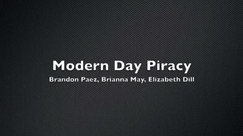 Thumbnail for entry Modern Day Piracy