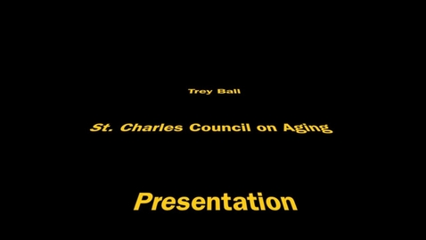 Thumbnail for entry Trey Ball St. Charles Council on Aging Design Presentation