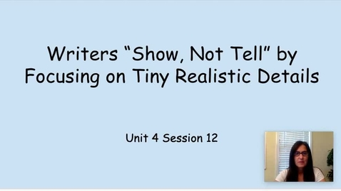 Thumbnail for entry WW Writers Show Not Tell Mid Workshop TP