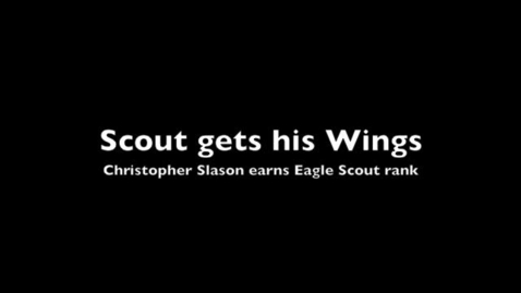 Thumbnail for entry Scout earns his wings