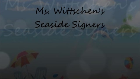 Thumbnail for entry Seaside Signers Day 1