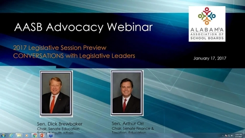 Thumbnail for entry Jan. 17, 2017 Legislative Advocacy Webinar